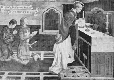 PICTURE: Painting of St Richard consecrating St Edmund's in 1253.