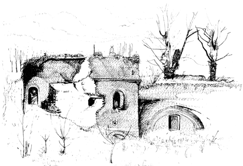 DRAWING: sketch of the fort.