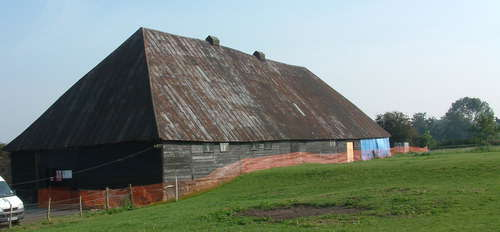 PHOTO: One of the abbey barns.